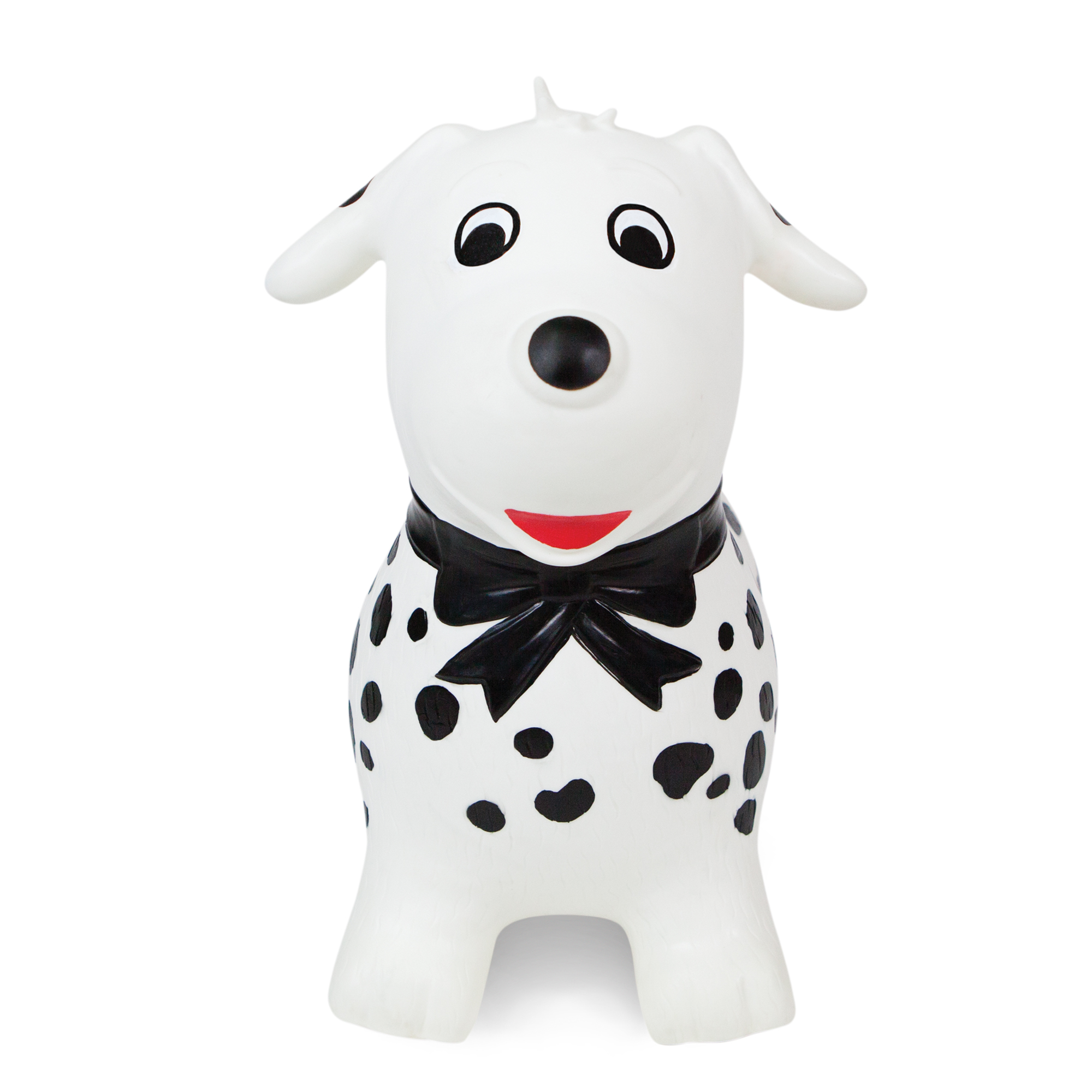 Waddle! Dalmatian Dog Bouncer! Inflatable Ride on Toy (White/Black)