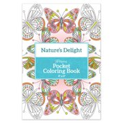 """Pocket Coloring Book 4""""x6""""-nature's Delight"""