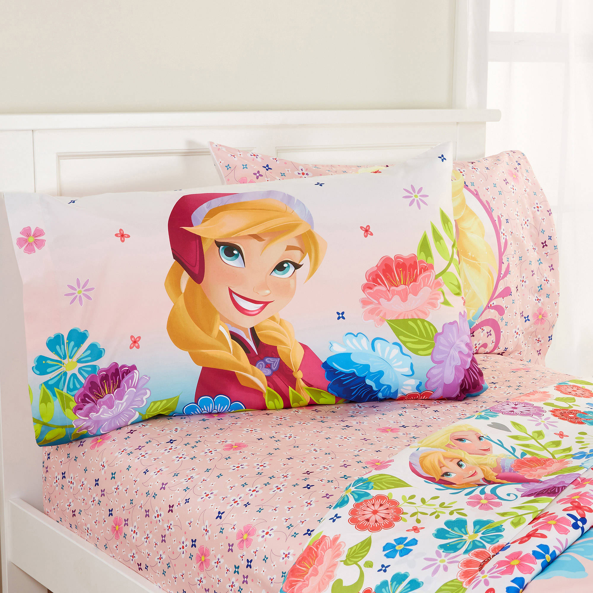 Disney Frozen Floral Breeze Sheet Set, Pink