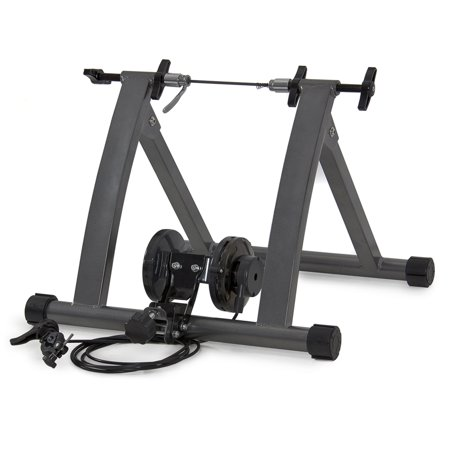 Best Choice Products New Indoor Exercise Bike Bicycle Trainer Stand W/ 5 Levels Resistance (Best Indoor Bike Stand)