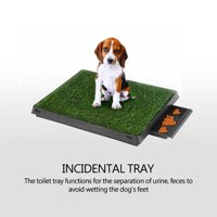 WALFRONT Pet Potty Mat, Potty Mat with Tray,Dog Puppy Cat Pet Potty Mat Grass Pad with Tray House Indoor Restroom Toilet Pee Training Tool