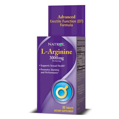 Natrol L-Arginine Tablets, 3000 Mg, 90 Ct
