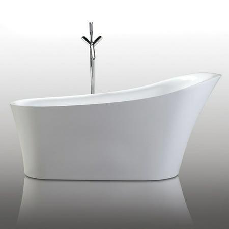- Legion Furniture WE6843 Acrylic 67 in. Freestanding Slipper Bathtub