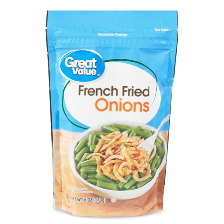 Great Value French Fried Onions, 6 oz, 3 Pack (Best Frozen Onion Rings)