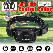 7 Levels Sensitivity Vibration Auto Anti Bark Dog Collar, Remote -Free Barking Control Warning Beep Tone,Vibration