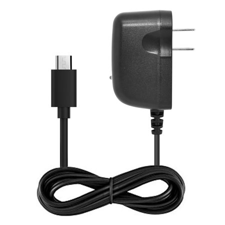 Home Wall Travel Charger Compatible with Kyocera DuraVX LTE Cell Phones [by NEM - 3 feet Long Cord] Black - image 3 de 9