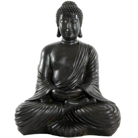 17 in. Tall Large Japanese Sitting Buddha Statue
