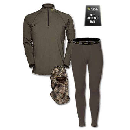 HECS Base Layer 3-Piece - Pants and Shirt - Olive Green - Size Small-FREE  DVD f58815ae5