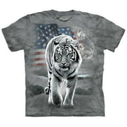 Patriotic Tiger Apparel T-Shirt - Grey