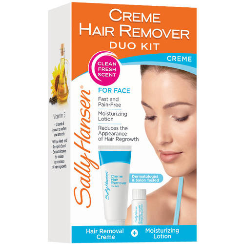Sally Hansen Creme Hair Remover Kit for Face, 2.5 oz
