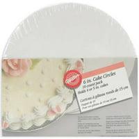 WMU 663297 Cake Boards-6-Inch Circle 10per Package