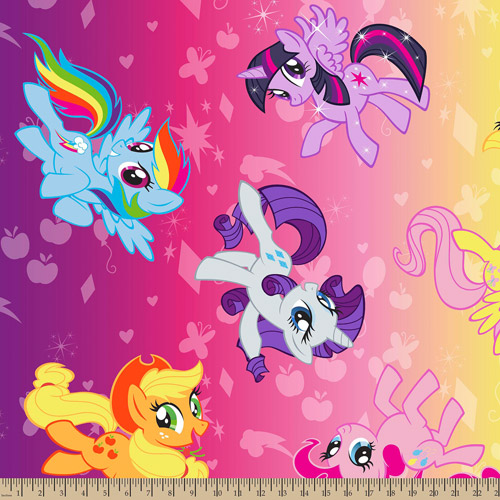 "My Little Pony Ombre Toss, Fleece, Purple Potion, 59/60"" Wide, Fabric by the Yard"