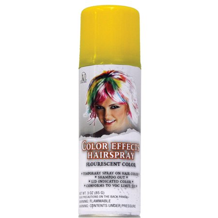 Spirit Fluorescent Hairspray Yellow One Size Fits (60's Style Dance Costumes)