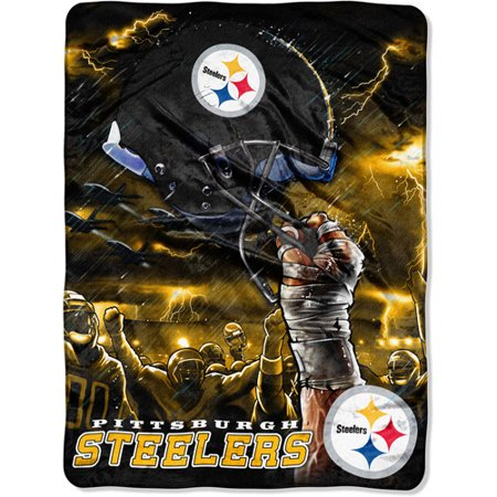 "NFL Sky Helmet Series 60"" x 80"" Royal Plush Raschel Throw, Pittsburgh Steelers by"
