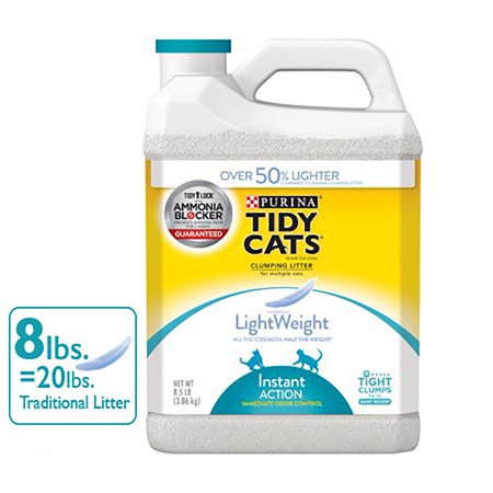 Purina Tidy Cats LightWeight Instant Action Multiple Cats Clumping Dust Free Cat Litter - 8.5 lb.