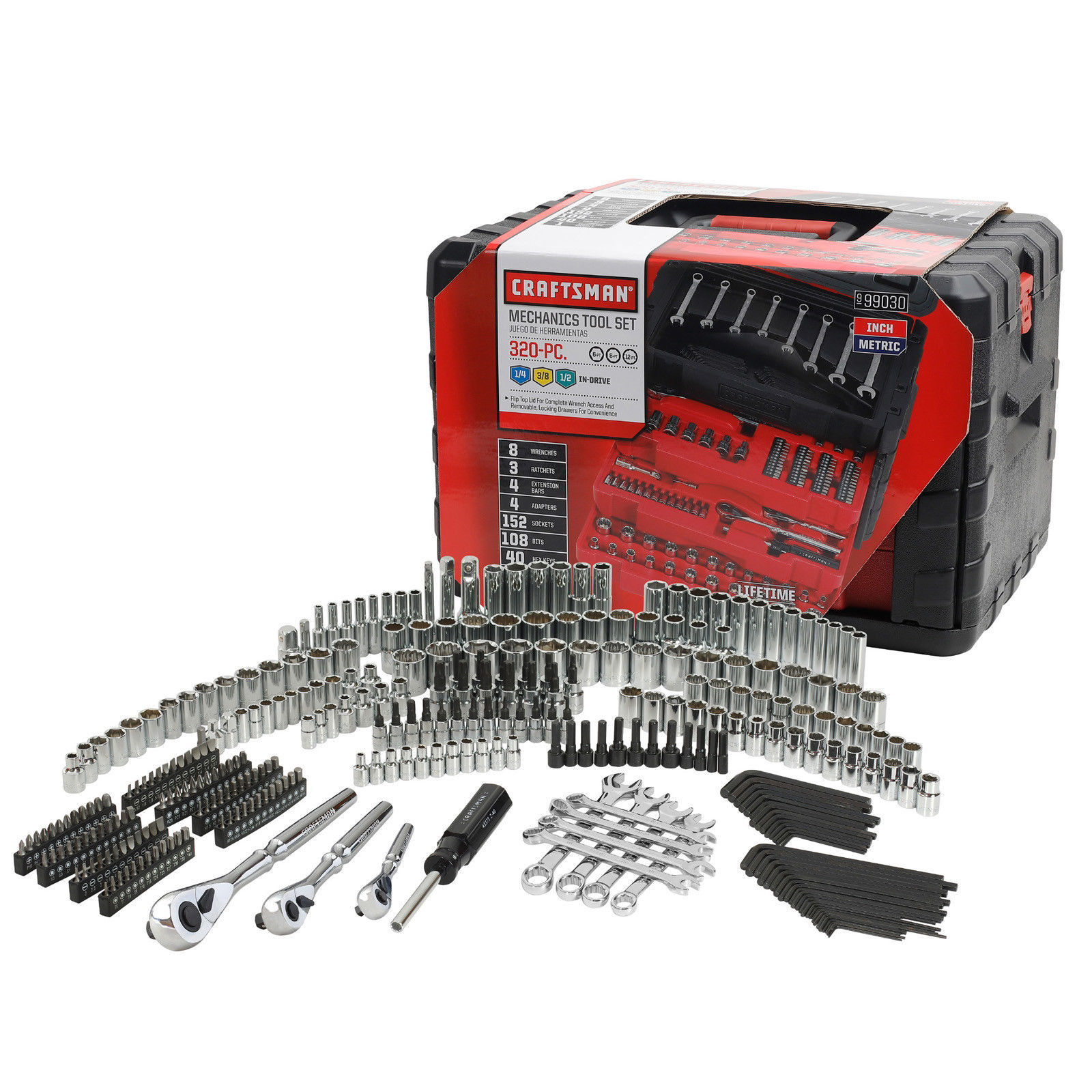 Craftsman Mechanics Tool Set 320 Piece Metric Drive Storage Case 9-99030