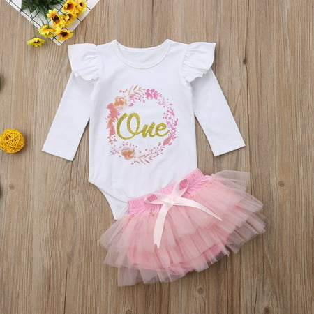 Party Themes For Baby Girl First Birthday (Baby Girl 1st Birthday Outfit One Year Party Cake Smash Tutu Skirt Clothes)