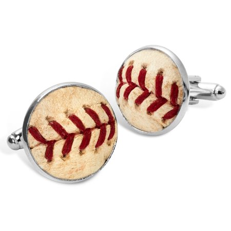 - Authentic Real Baseball Seam Cufflinks with Grass Like Gift Box - Made in USA