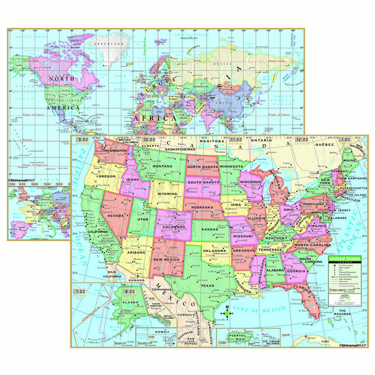 Us & World Primary Deskpad Maps 5Pk - image 1 of 1