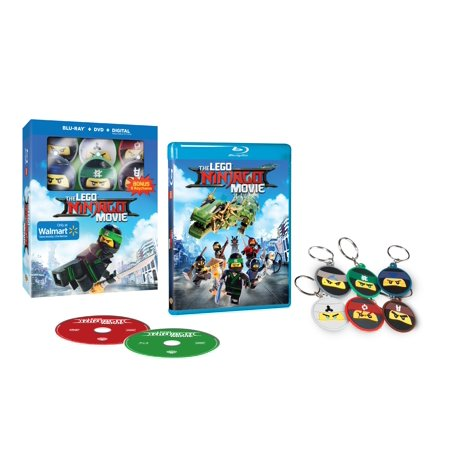 The LEGO Ninjago Movie (2017) (Walmart Exclusive) (Blu-ray + DVD + Digital HD + Keychain)