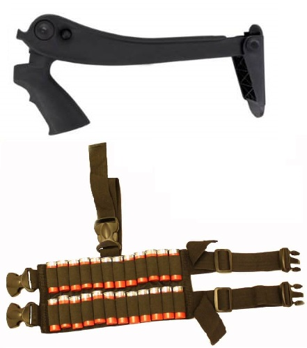 ATI Winchester 1200 1300 12 Gauge Shotgun Tactical Stock + Ultimate Arms Gear 24 Shot Shell Ammo Reload Carrier Thigh... by