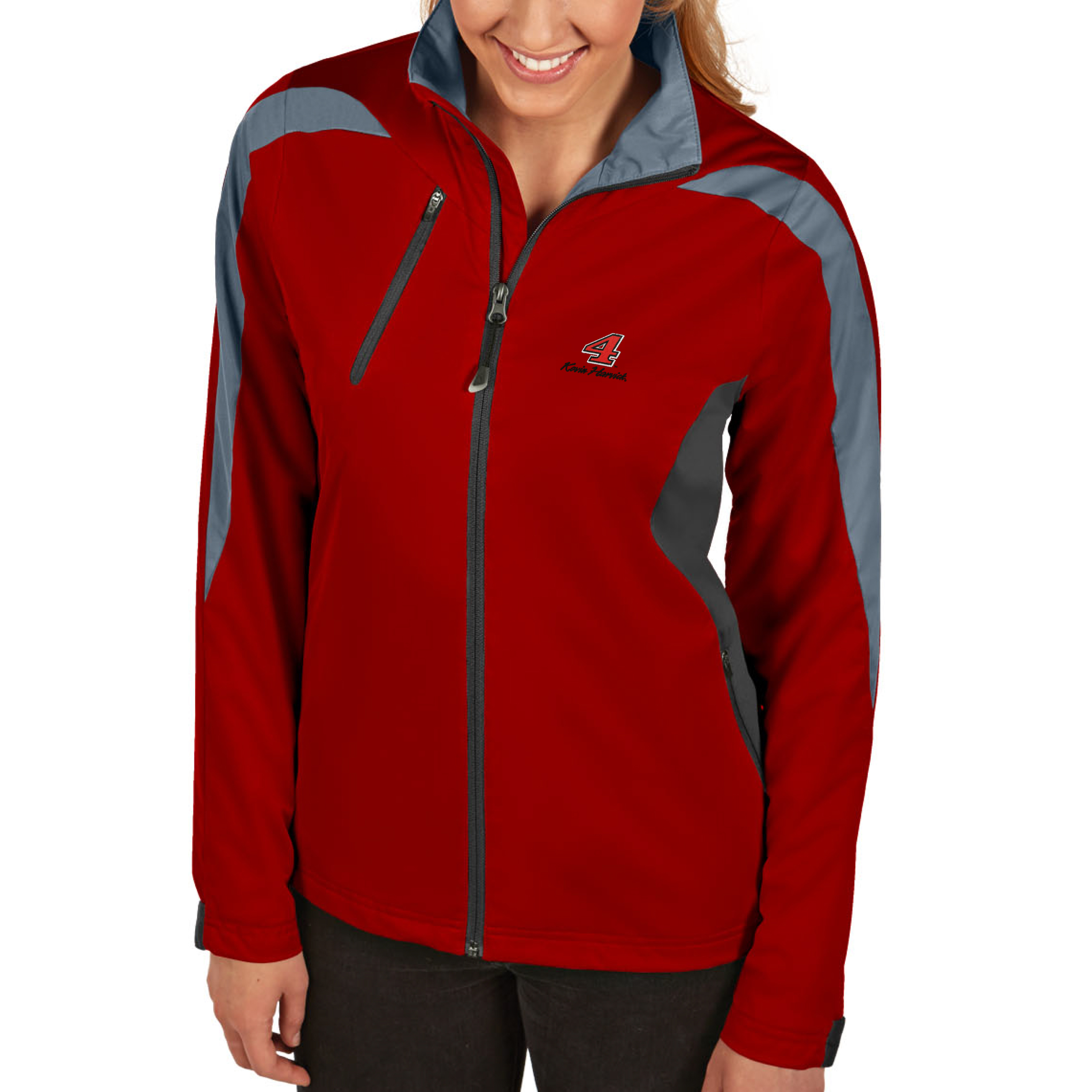 Kevin Harvick Antigua Women's Discover Full Zip Jacket - Red