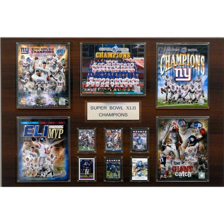 C&I Collectables NFL 24x36 New York Giants Super Bowl XLII Champions Plaque by