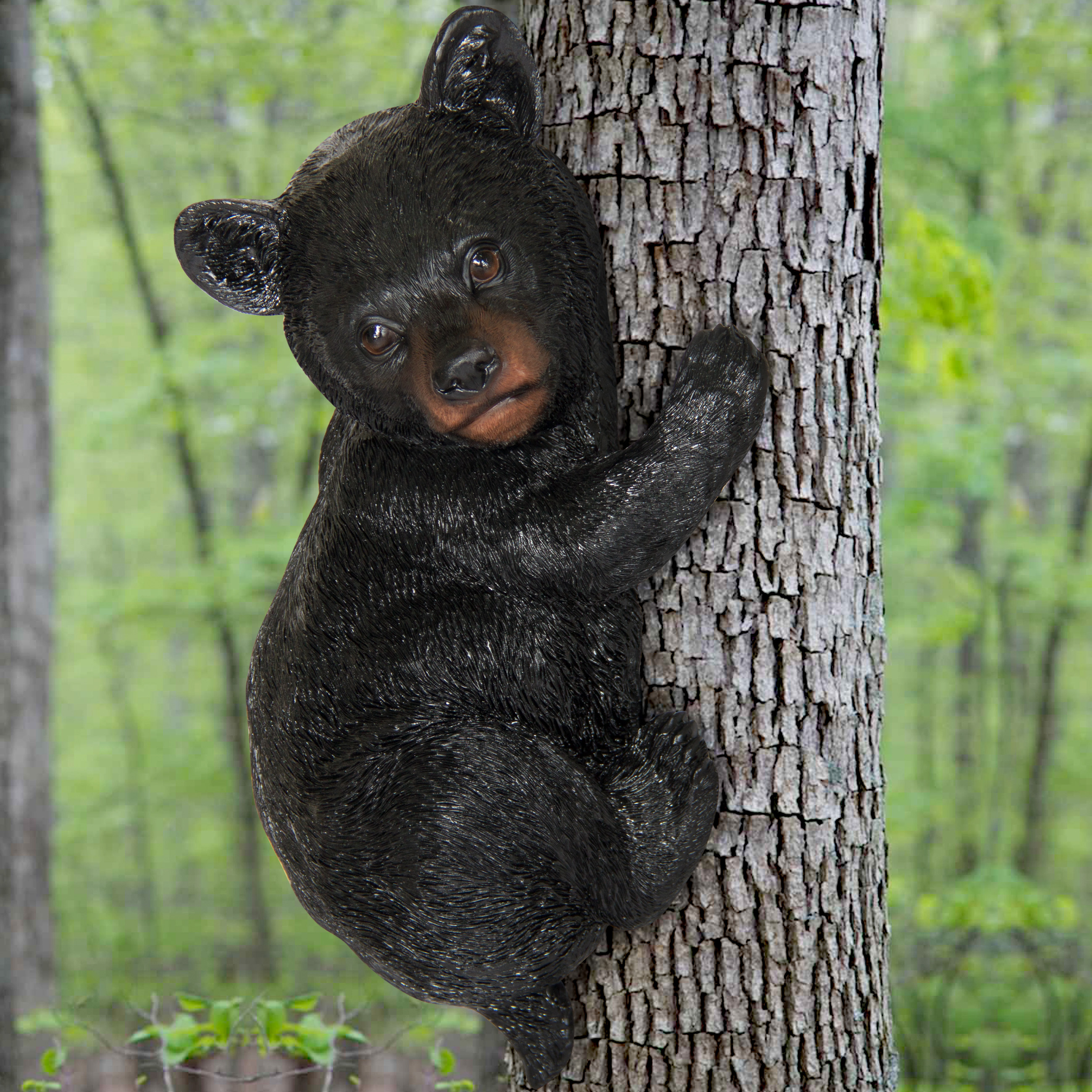 Best Choice Products Little Bear Cub Tree Hugger Garden Peeker Outdoor Sculpture