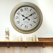 Better Home Gardens Oversized Wall Clock 28 Inch Whitewashed Modern Farmhouse