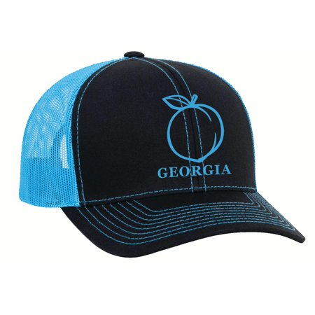 5fcd89e56a6 Heritage Pride Georgia Peach Embroidered Trucker Hat - Walmart.com