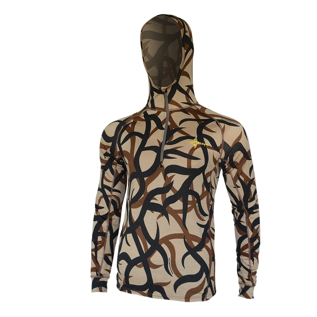 ASAT Bedrock Merino 1 4 Zip Base Layer Hoodie by