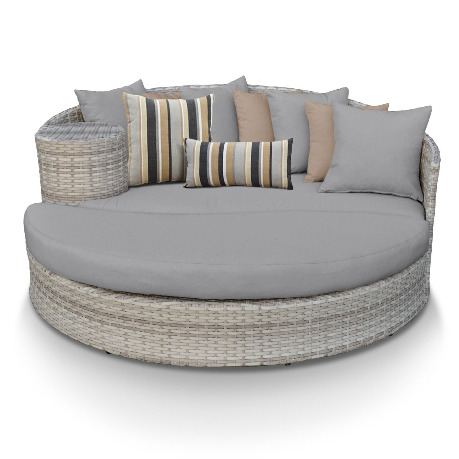 TK Classics Fairmont All-Weather Wicker Outdoor Sun Bed