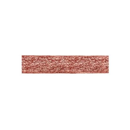 """Pack of 6 Copper Spiral Weave Christmas Craft Wired Ribbon 2.5"""" x 60 Yards"""