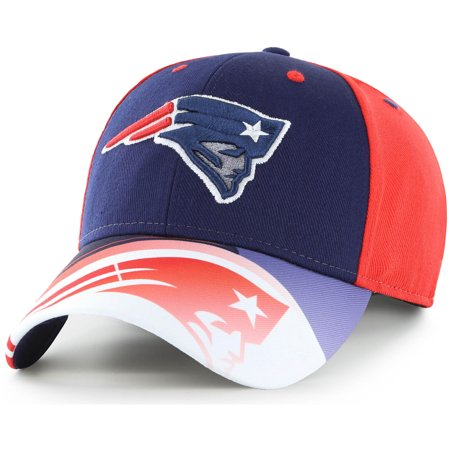 Men's Fan Favorite Navy/Red New England Patriots Squib Kick Adjustable Hat - OSFA