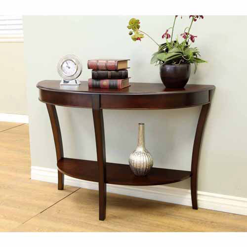 Home Craft Half-Round Sofa Table