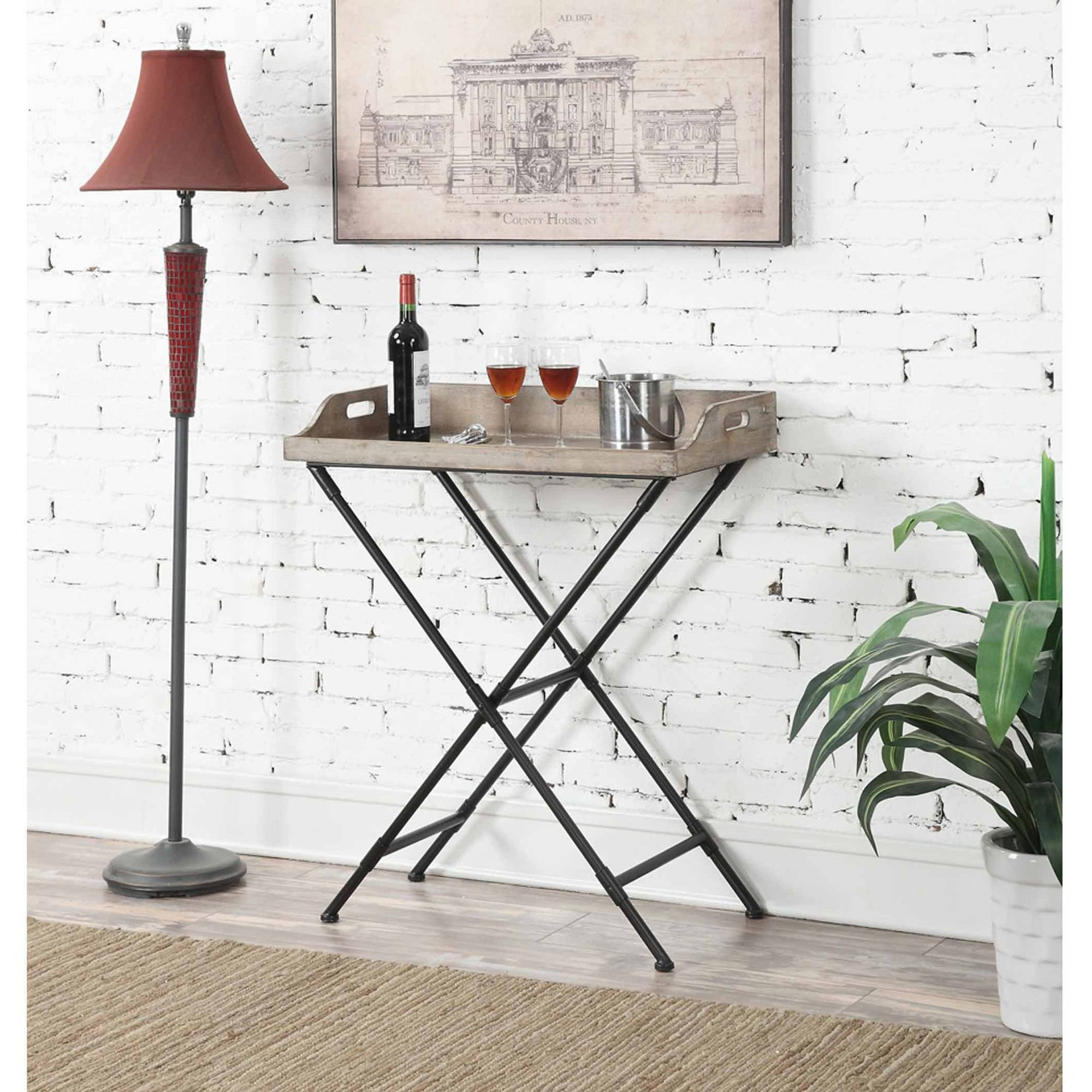 Convenience Concepts Wyoming Folding Serving Bar Table