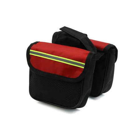 Bike Double Side Rack Rear  Tail Carrier Pannier Bag Storage Black Red ()