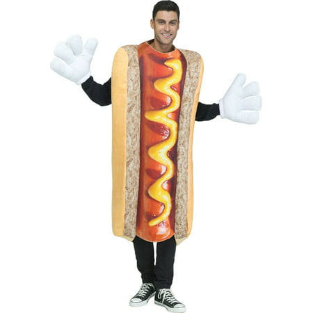 Hot Dog Photo-Real Costume - Halloween Hotdog Fingers