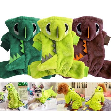 Pet Dog Cat Dinosaur Shape Clothes Costume Halloween Christmas Winter Chihuahua
