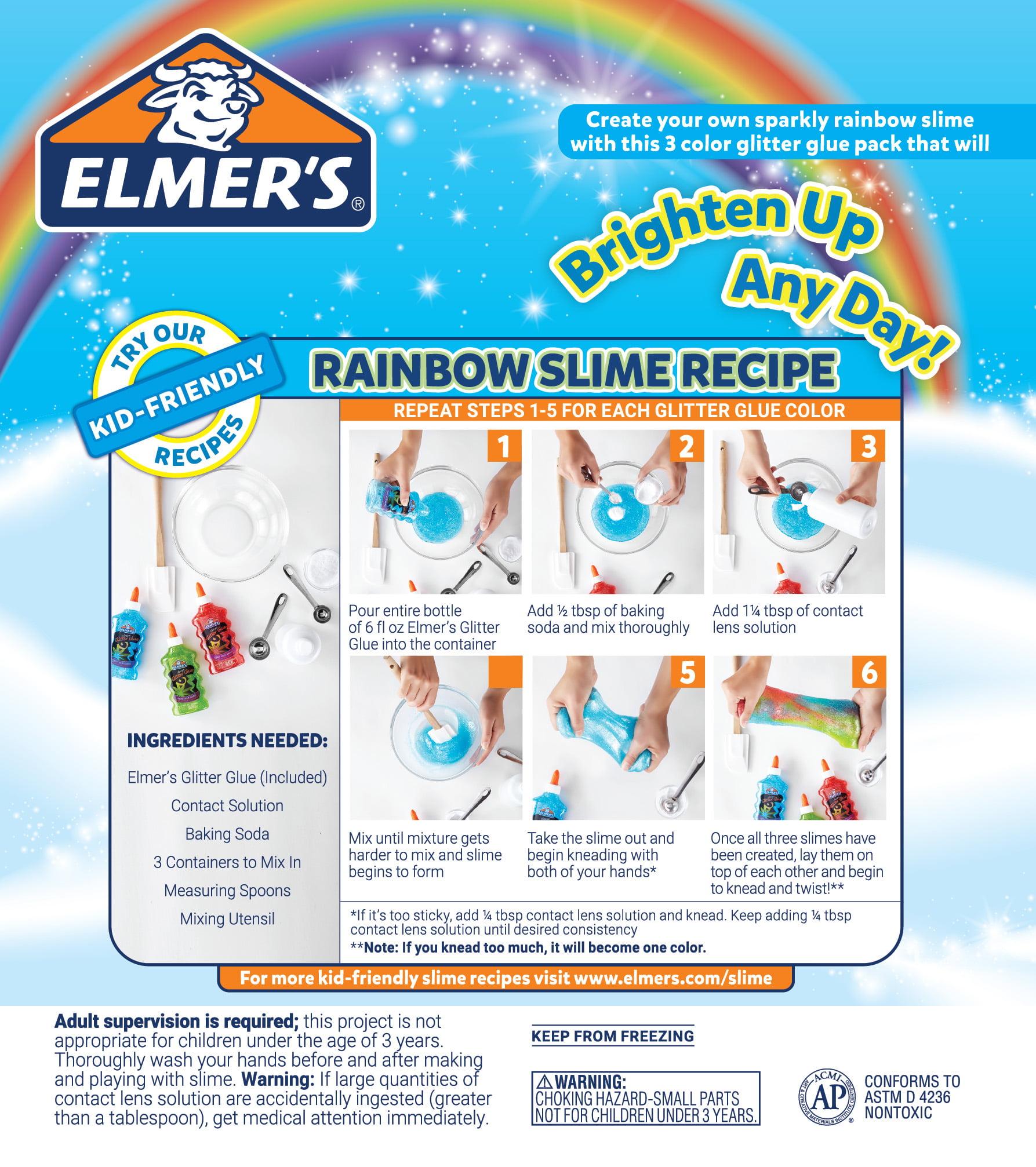 3ct rainbow slime kit blue red green glitter walmart com