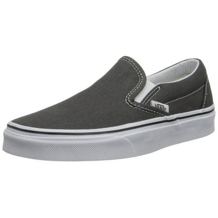 vans vn-0eyechr : unisex classic slip-on shoes charcoal ( 6 b(m) us women / 4.5 d(m) us -