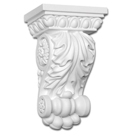 Focal Point Panel - focal point 38350 maderia corbel 5 1/2-inch by 8 1/2-inch by 3 5/8-inch, primed white