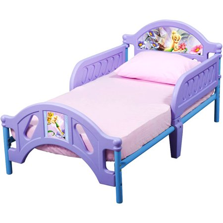 Disney tinkerbell fairies toddler bed for Tinkerbell bedroom furniture