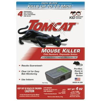 4-Pack Tomcat Mouse Killer Disposable Station