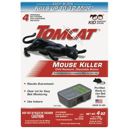 Tomcat Mouse Killer Child Resistant, Disposable (Best Rat Killer On The Market)