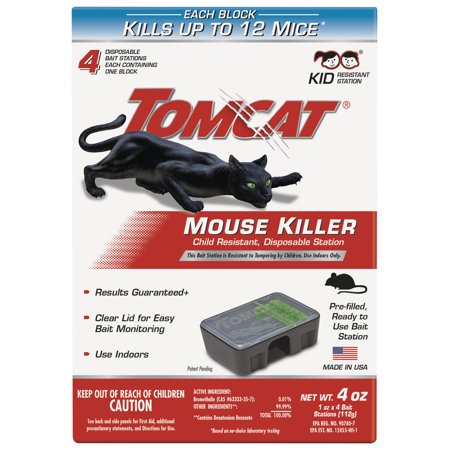 Tomcat Mouse Killer Child Resistant, Disposable Station ()