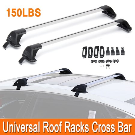 Pair 110cm -120cm Universal Roof Racks Cross Bars Anti-theft Lock Luggage Carrier Car Roof Bars Car Accessories - image 4 de 10