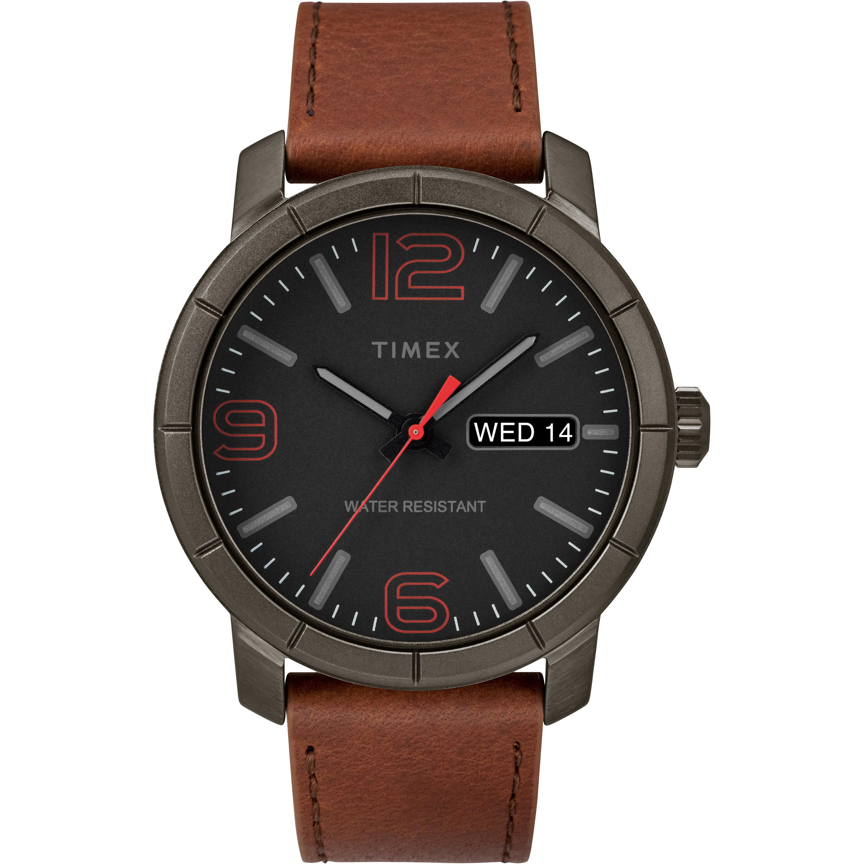 Men's Mod 44 Brown/Black Watch, Leather Strap