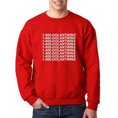 3c1b0ac6a 761 - Crewneck 1-800-DOLANTWINS Dolan Twins Hotline Bling Sweatshirt Medium  Red - Walmart.com