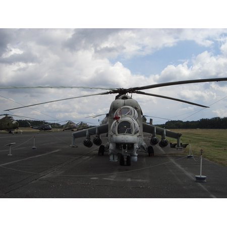 Canvas Print Helicopter Hind Gunship Stretched Canvas 10 x 14 ()